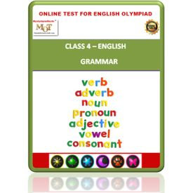 Class 4, Grammar, Online test for English Olympiad