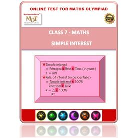 Class 7, Simple interest, Online test for Math Olympiad