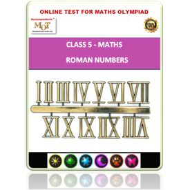 Class 5, Roman numbers, Online test for Math Olympiad