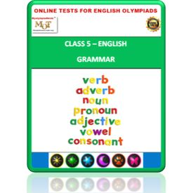 Class 5, Grammar, Online test for English Olympiad