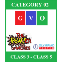 Online Global Vocabulary Olympiad (GVO) - Category 2 (Class 3- Class 5)