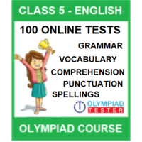 Class 5 English Olympiad course with 100 Online tests
