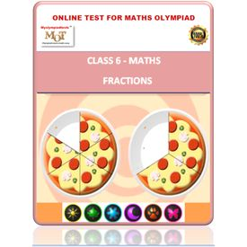 Class 6, Fractions, Online test for Math Olympiad