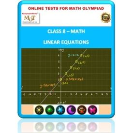 Class 8, Linear equations, Online test for Math Olympiad