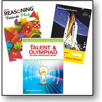 Class 8- BMA's Talent & Olympiad exams resource book+ Model Papers+ Reasoning trainer (With solution book)