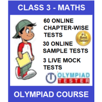 Class 3 Maths Olympiad course with 90 Online tests (Chapter- wise, Sample and LIVE Mock)