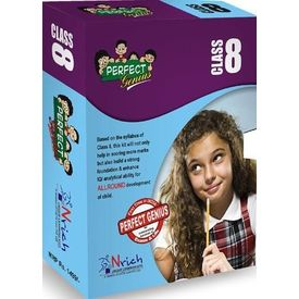 Class 8- Perfect genius for Olympiads, Science, Maths, Social, logic, 2nd Edition (box set)