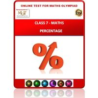 Class 7, Percentage, Online test for Math Olympiad