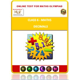 Class 6, Decimals, Online test for Math Olympiad