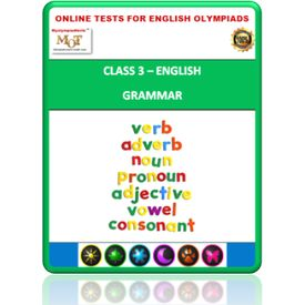 Class 3, Grammar, Online test for English Olympiad