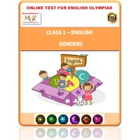 Class 1- Genders- Online test for English Olympiad