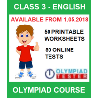 Class 3 English Olympiad Course with 50 Online tests and 50 Printable Worksheets