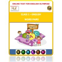 Class 1- Word pairs- Online test for English Olympiad