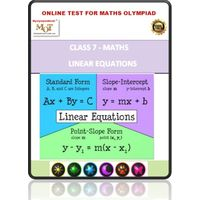 Class 7, Simple linear equations, Online test for Math Olympiad