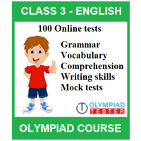 Class 3 English Olympiad Course with 100 Online practice tests