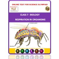 Class 7, Respiration in organisms, Online test for Science Olympiad