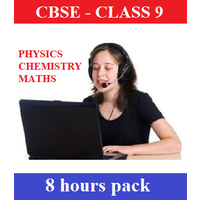 Online Skype Classes (8 Hours pack) in Physics, Chemistry and Maths for Class 9 CBSE Students