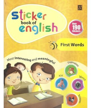 Sticker Book Of English First Words