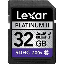 Lexar Platinum II 32GB SDHC/SDXC UHS-I card