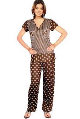 Hosiery Night Suit - Regular designer for comfort JKNS- 522- 001, brown