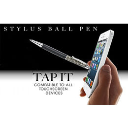 2-in-1 Stylus Touch Pen with Citrine Color Swarovski Crystal Beads., 1