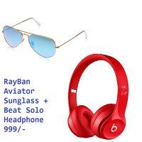 Rayban Aviator With Beat Solo Combo