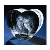 Personalized Photo crystal Heart Shaped with 3D effect