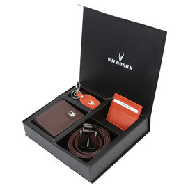 WILDHORN BROWN NEW HIGH QUALITY GENUINE MEN' S LEATHER GIFT COMBO