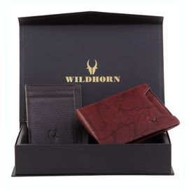 WILDHORN NEW HIGH QUALITY GENUINE MEN' S LEATHER GIFT COMBO…