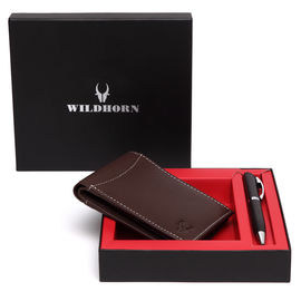 WILDHORN NEW HIGH QUALITY GENUINE MEN' S LEATHER PEN & WALLET COMBO…