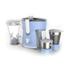 Philips Amaze HL7576/00 600-Watt Juicer Mixer Grinder with 3 Jars (Celestial Blue/Bright White)