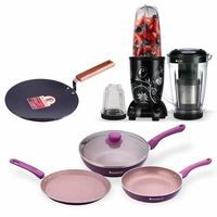 Wonderchef Combo of Nutri-Blend with Juicer Attachment, Royal Velvet Plus Set and Ebony Roti Tawa