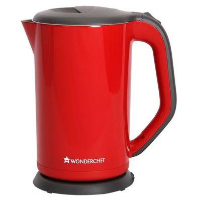 Wonderchef luke Electric Kettle 1.2 litre Red/White