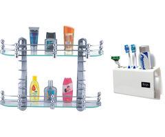 CiplaPlast Combo of Elegant Glass Shelf Set (20