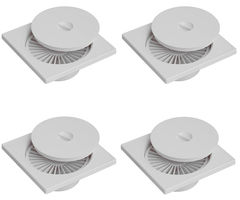 CiplaPlast Shower Floor Drain / Cockroach Trap - BRC 733 White (Pack of 4)