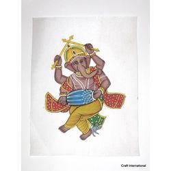 Ganesha Painting on Cloth 3