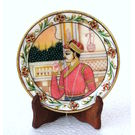 Craftsgallery Miniature Painting King Portrait on Marble Plate For Home Decor, 6 inches