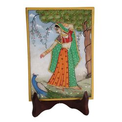 Miniature Painting on Marble for Home Decor 3