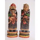 Wooden Mughal Sculptures Home Decor, blue