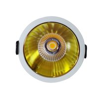 Aura Delta 10 Watt White And Gold, 3000k