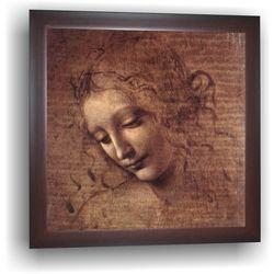 A painting by Leonardo Da Vinci, 14 x 14 inches