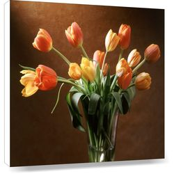 Tulips, 20 x 20 inches