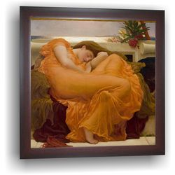 Flaming June - A 1895 painting, 14 x 14 inches