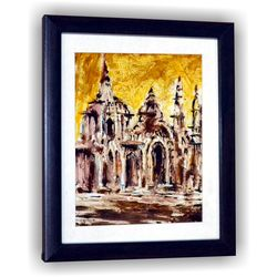 Abstract Architecture Craft Wall Decor Sketch Gift, 8 inch x 7 inch