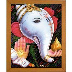 Ganesha Shankh, 8 x 10 inches