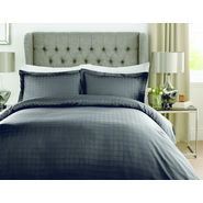 Mark Home Luxury Squares Black Bed Sheet Set in King size