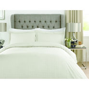 Mark Home Luxury Squares Ivory duvet cover in Double size