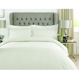 Mark Home Luxury Squares Ivory Bed Sheet Set in Double size