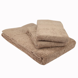 Beige bath and hand towel