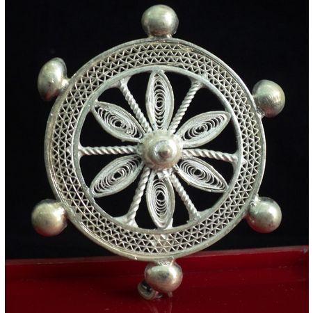 OHF001: Filigree design Konark wheel from odisha